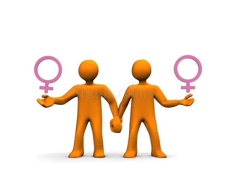 homoseksualny lesbian royalty ilustracja