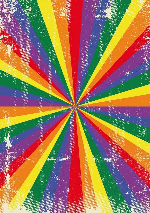 Homoseksualny roczników sunbeams tło ilustracja wektor