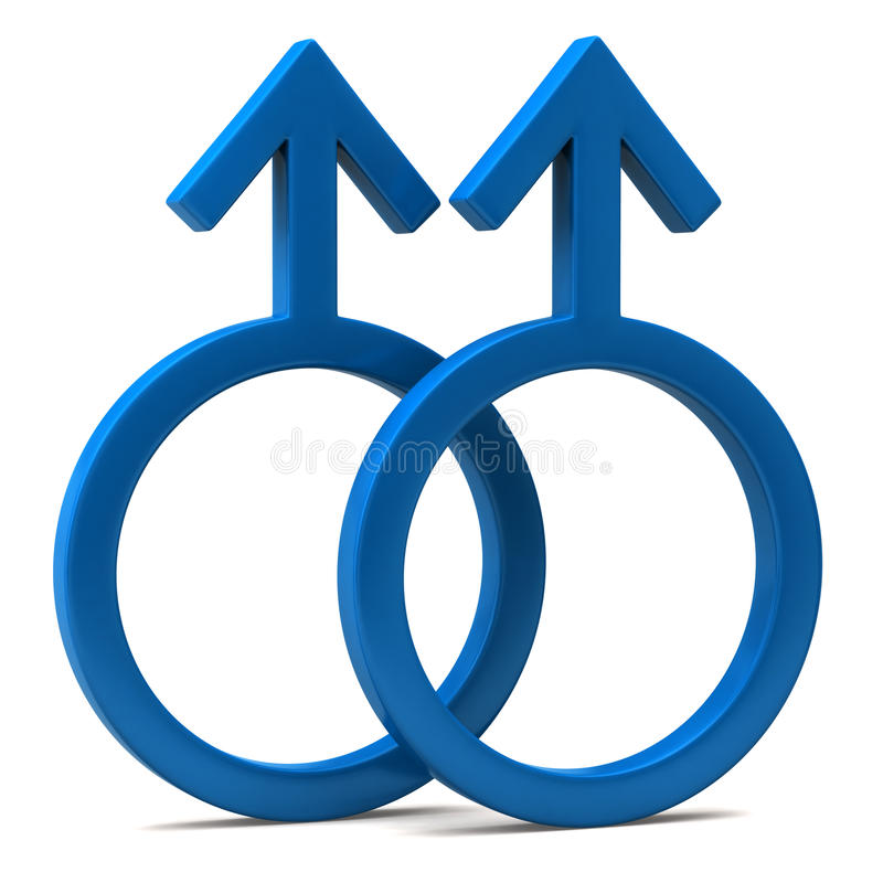 homoseksualny symbol royalty ilustracja