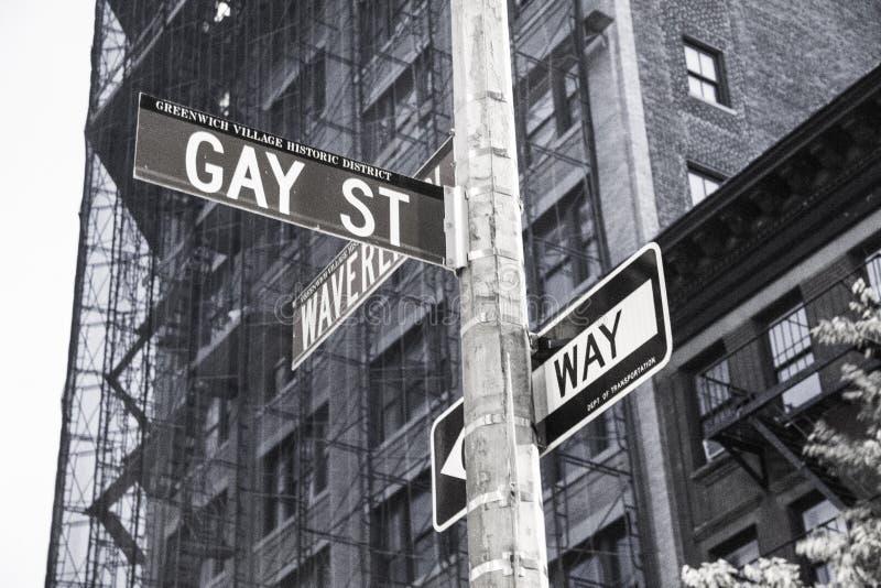 Homoseksualny uliczny ruch drogowy podpisuje wewnątrz Nowy Jork obraz royalty free
