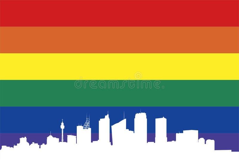 Homoseksueel Sydney vector illustratie