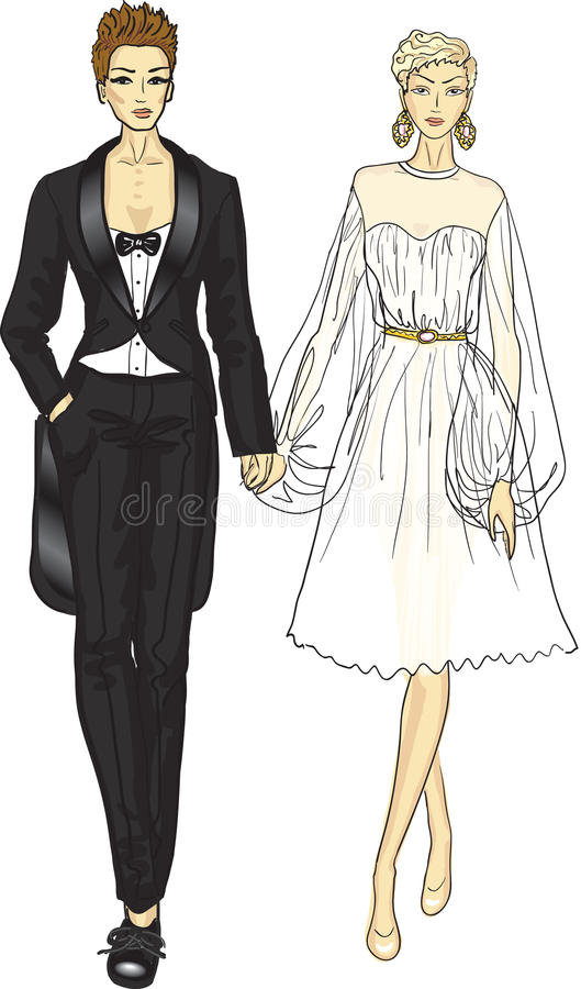 Download Homosexual couple stock vector. Illustration of cutout - 26546442