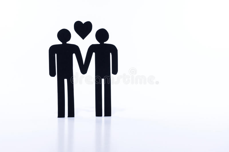 Homosexual couple, figurines, same-sex marriage stock photos
