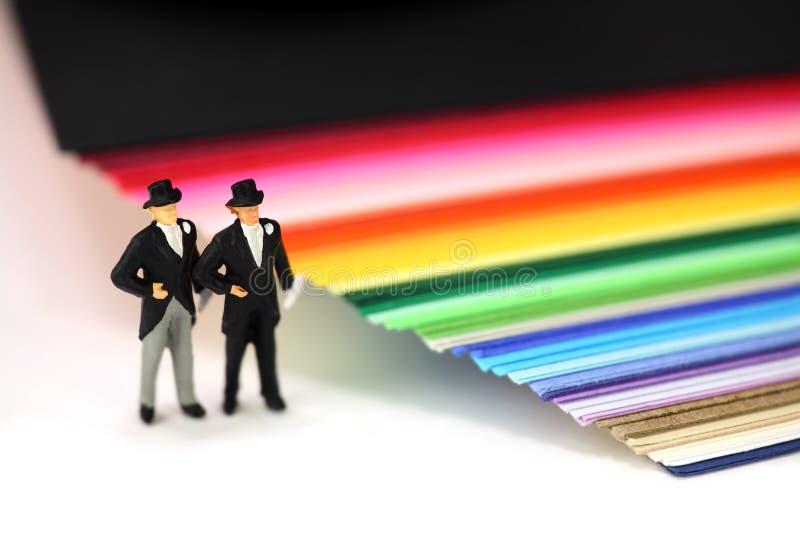 Homosexual o concepto del matrimonio homosexual. imagen de archivo libre de regalías