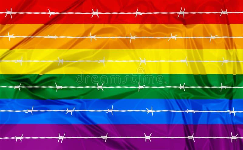 Homosexualität und Homophobie lizenzfreie abbildung