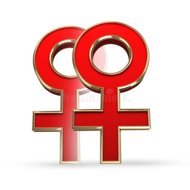 Homosexueel; lesbienne; liefde; vrouwen; wijfje; homoseksueel; het dateren; symbool; diamant; paar; geslacht; geslachtssymbool; ju royalty-vrije illustratie