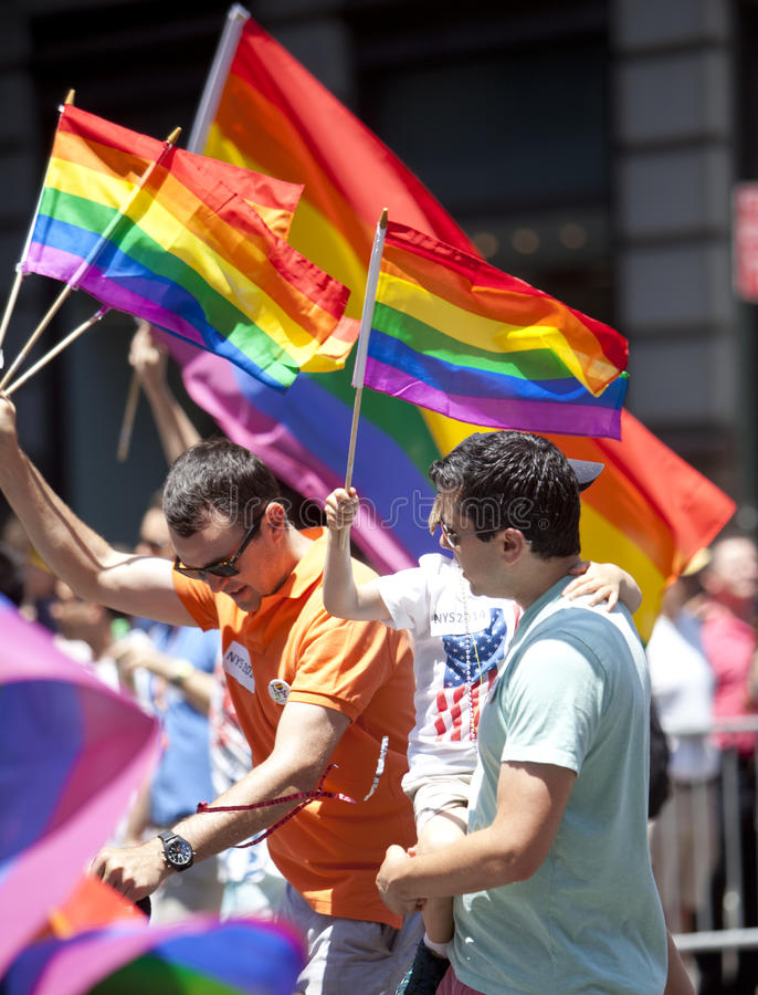 Homosexuel Pride March de New York images libres de droits