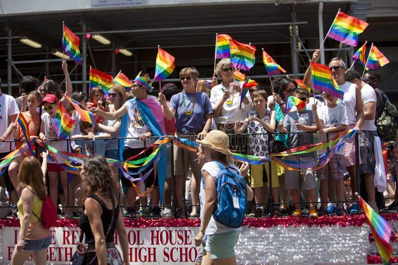 Homosexuel Pride March de New York images stock