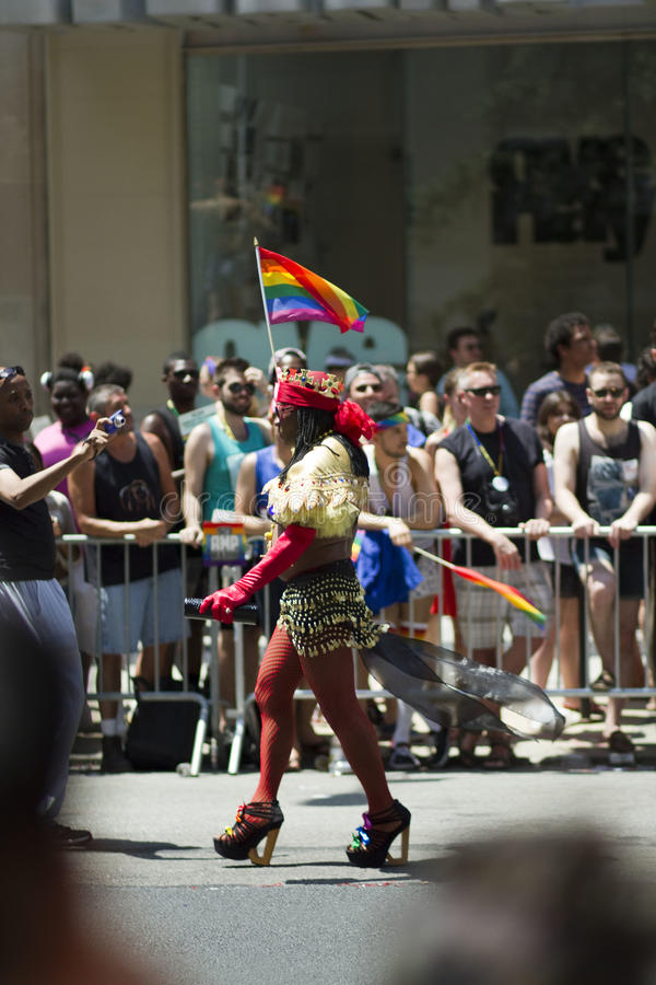 Homosexuel Pride March de NYC images stock
