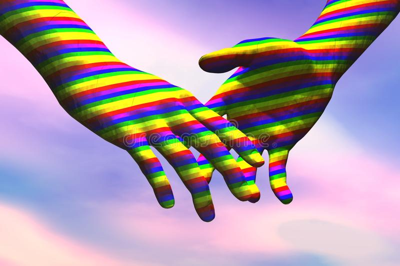 Homosexuelle Hände vektor abbildung
