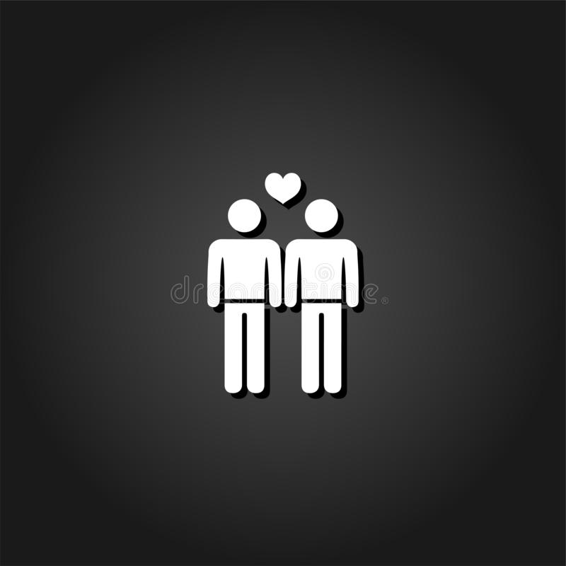 Homosexuelle Ikone flach vektor abbildung
