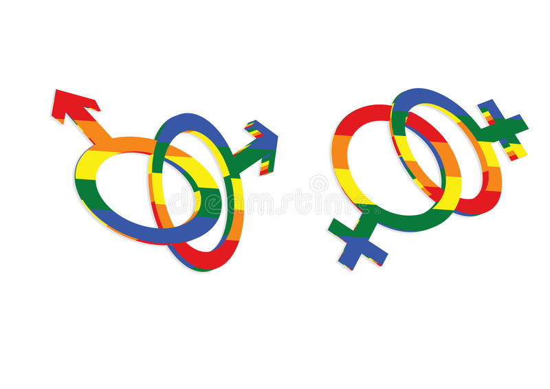 Homosexuelle Liebes-Sex-Symbol-Ikone stock abbildung