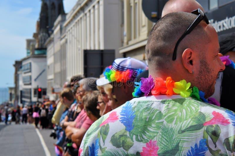 Homosexuelle Parade in Brighton, Großbritannien lizenzfreies stockfoto