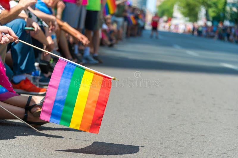 Homosexuelle Regenbogenflagge stockbilder
