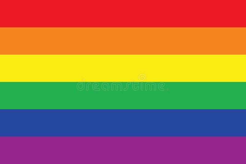 Homosexuelle Stolz-Markierungsfahne lizenzfreie abbildung