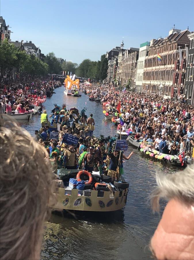 Homosexuelle Stolz-Parade Amsterdam lizenzfreies stockbild