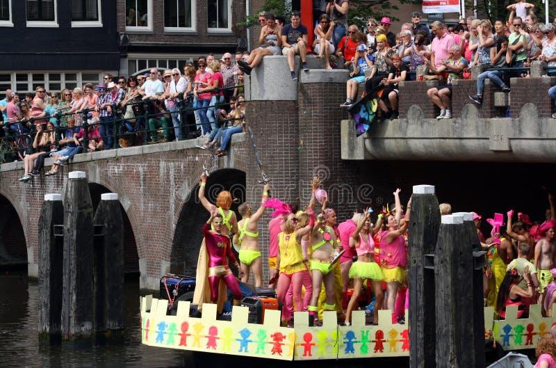 Homosexueller Stolz Amsterdam stockfotos