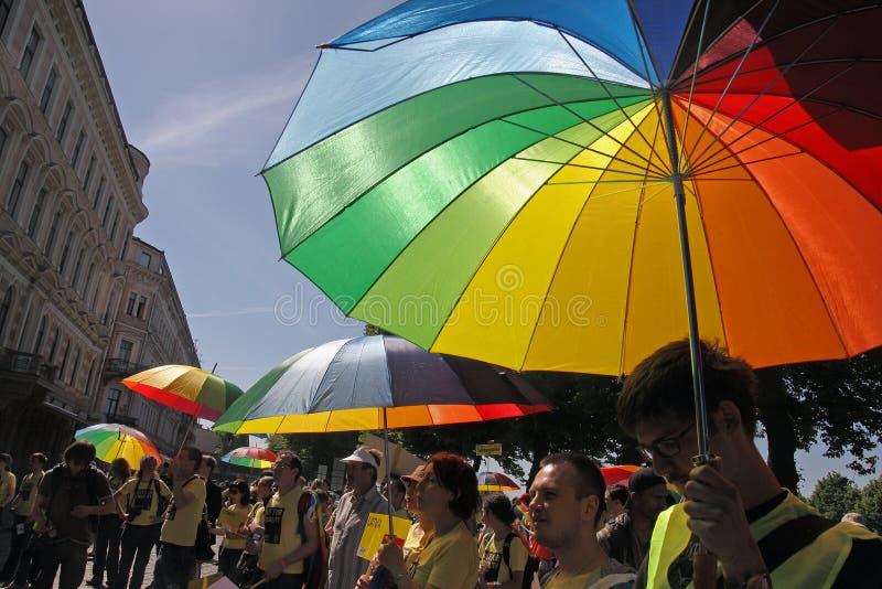Homosexueller Stolz in Riga 2008 stockfotografie