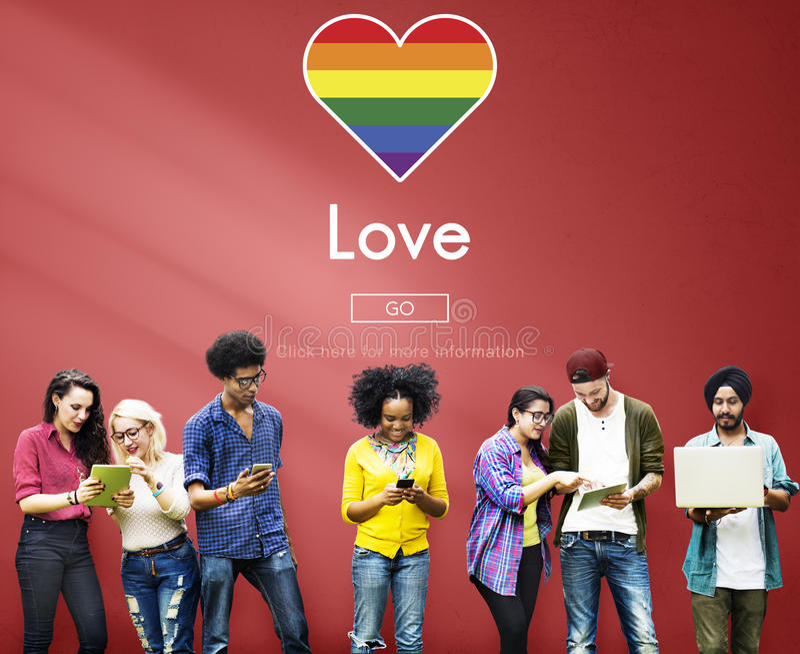 Homosexuelles LGBT-Gleichgestelltes berichtigt Homosexualitäts-Konzept lizenzfreies stockbild