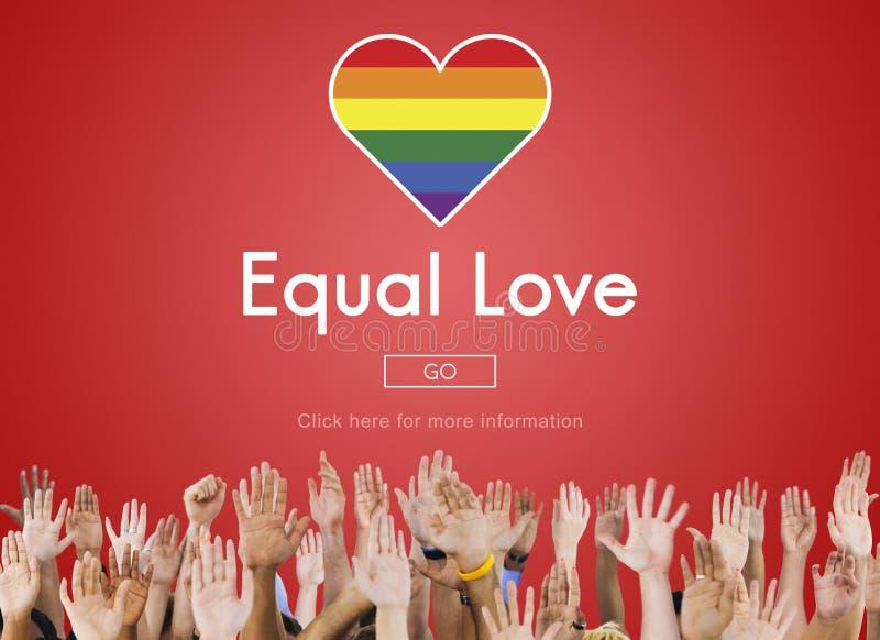 Homosexuelles LGBT-Gleichgestelltes berichtigt Homosexualitäts-Konzept stockbild