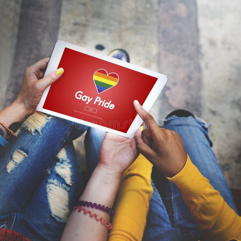 Homosexuelles LGBT-Gleichgestelltes berichtigt Homosexualitäts-Konzept lizenzfreies stockfoto
