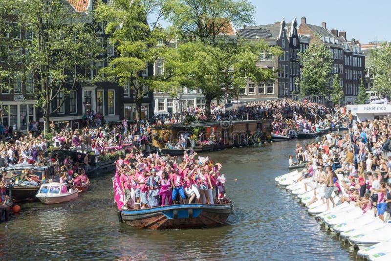 Homosexuelles Pride Amsterdam August 2013 lizenzfreies stockfoto