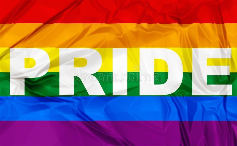 Homosexuelles Pride Flag stock abbildung