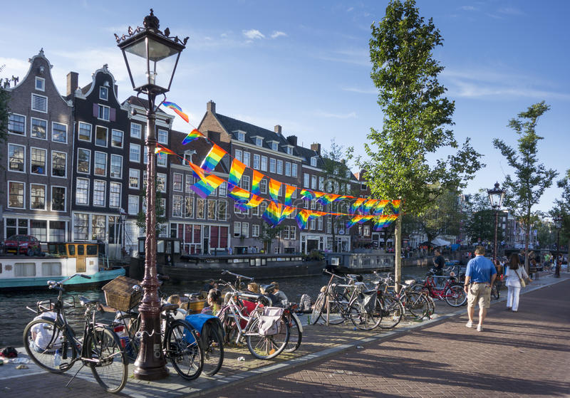 Homosexuelles Pride Flags stockbild