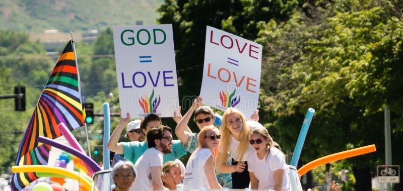 Homosexuelles Pride Parade in Salt Lake City, Utah stockfotos