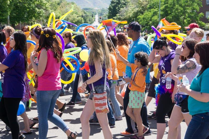 Homosexuelles Pride Parade in Salt Lake City, Utah lizenzfreie stockfotografie