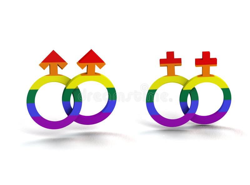 Homosexuelles und Lesbe lizenzfreie abbildung