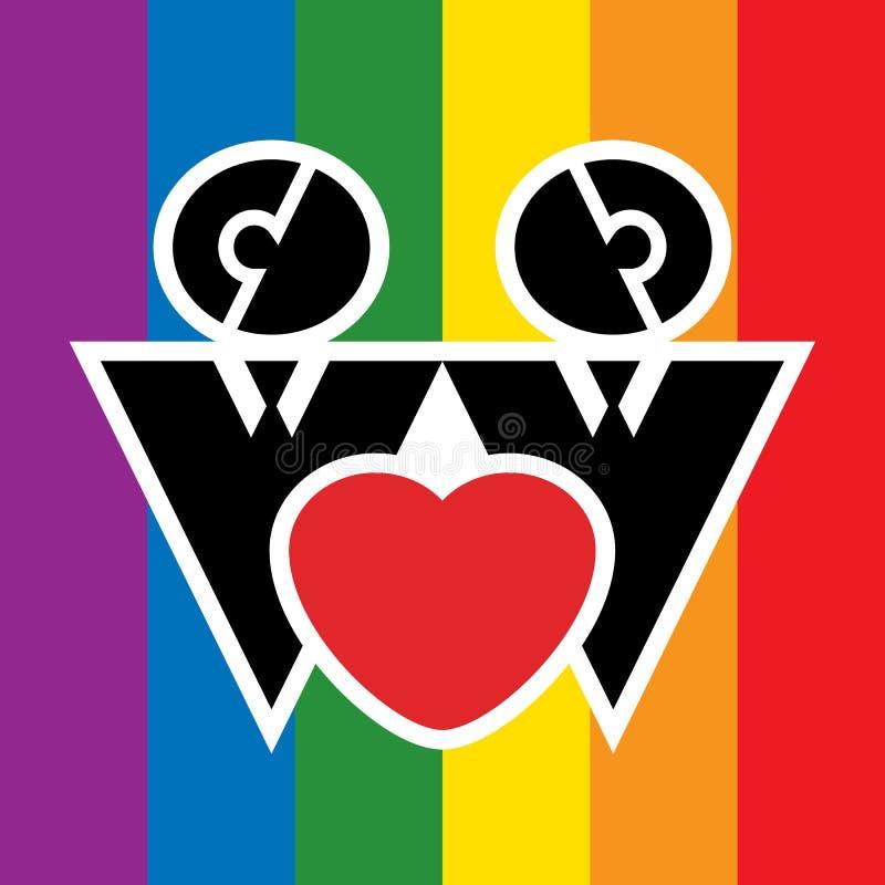 Homosexuelles Zeichen stock abbildung