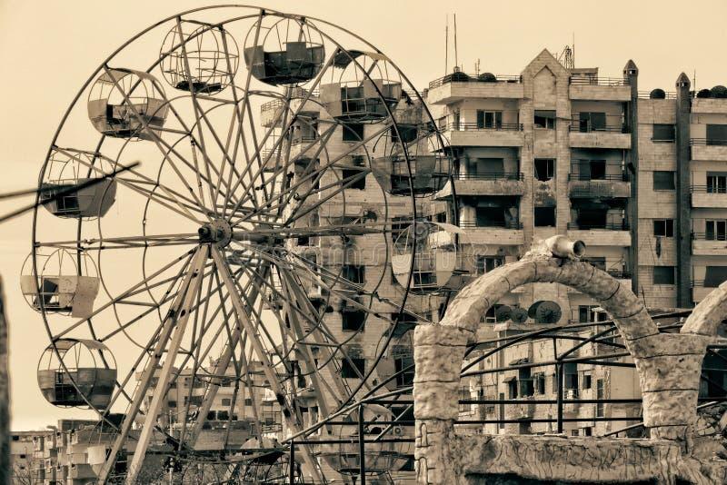 Homs stad i Syrien fotografering för bildbyråer