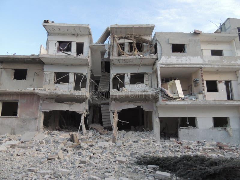 Homsstad in Syrië stock foto's
