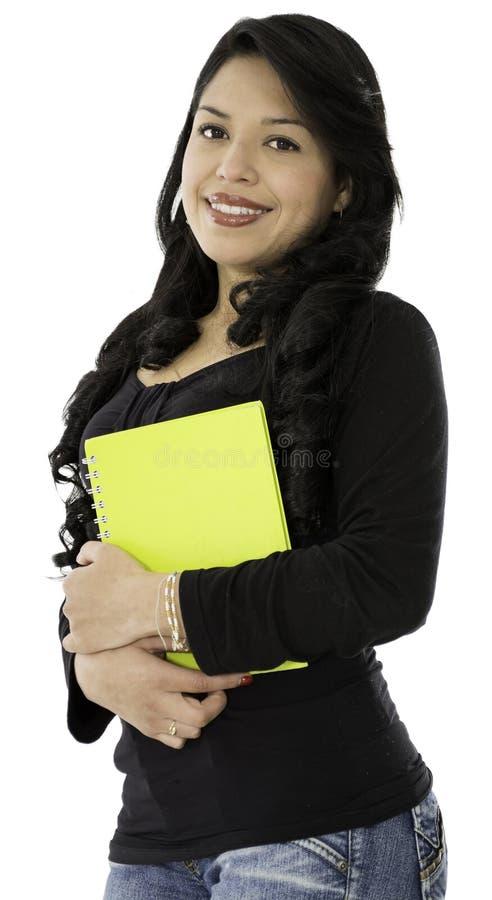 Hon är en bra student royaltyfria foton