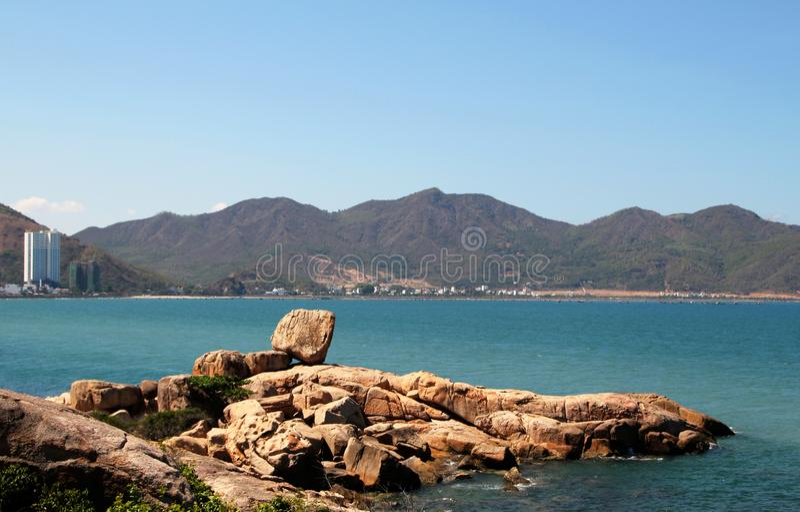 Hon Chong Beach également connu sous le nom de pierre GardenSu photo libre de droits