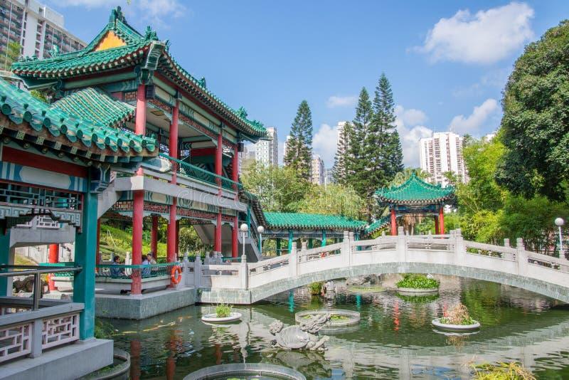 Hon Kong Faites du jardinage dans le temple du p photos stock