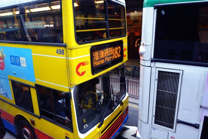 Hon Kong Tramways de deux-ponts photographie stock libre de droits