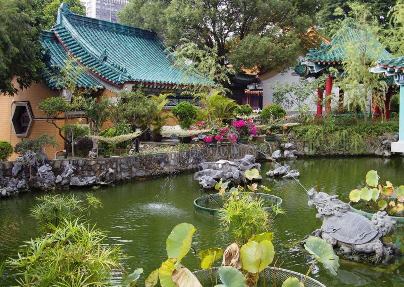 Hon Kong Tuin in de tempel van de Zonde van Wong tai stock fotografie