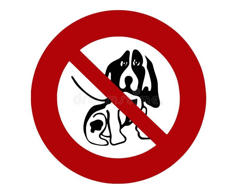 Hond 03 van het teken royalty-vrije illustratie