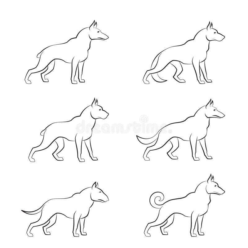 Hond stock illustratie