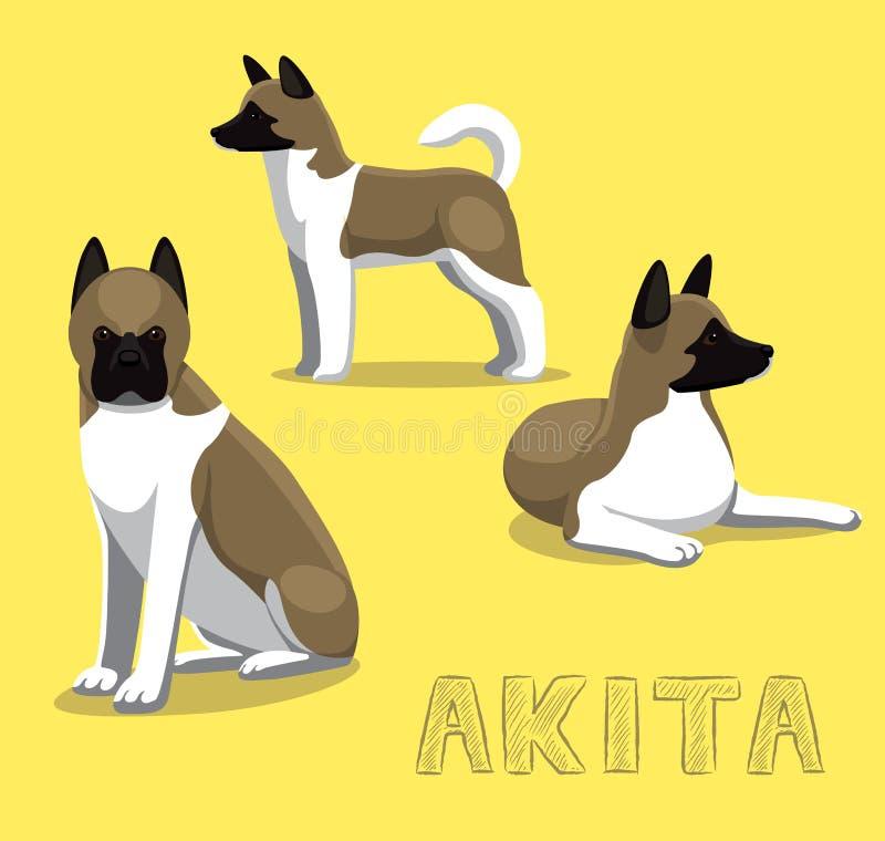 Hond Akita Cartoon Vector Illustration stock illustratie