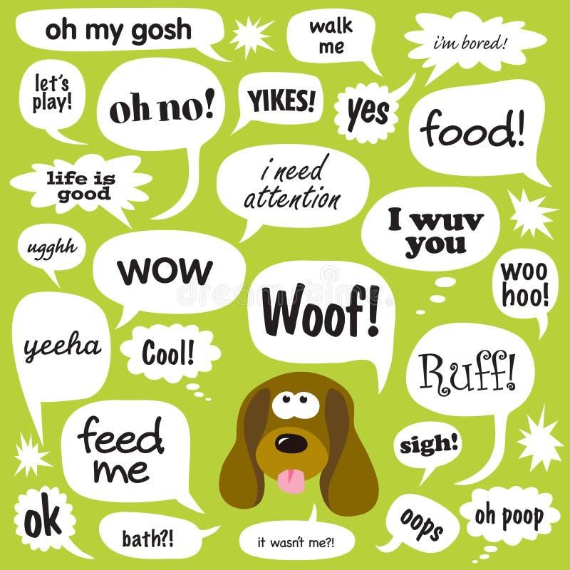 hond bespreking royalty-vrije illustratie
