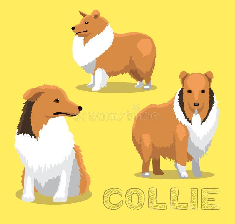 Hond Collie Cartoon Vector Illustration stock illustratie