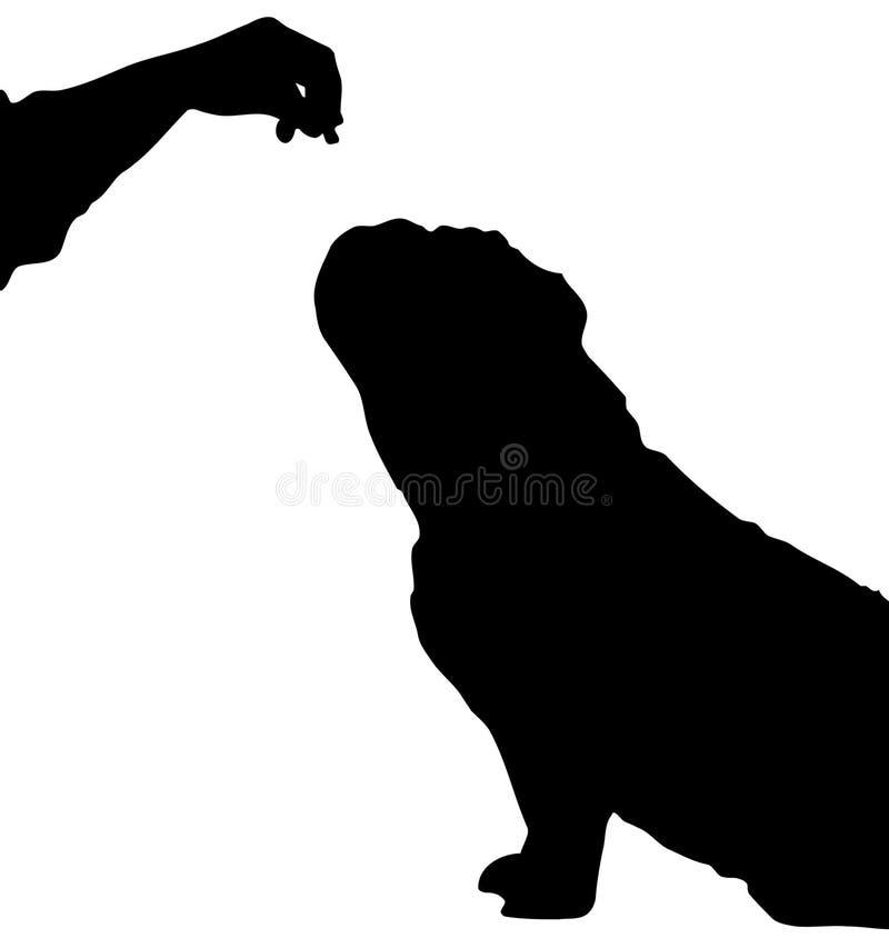 Hond die voor voedsel bedelt vector illustratie