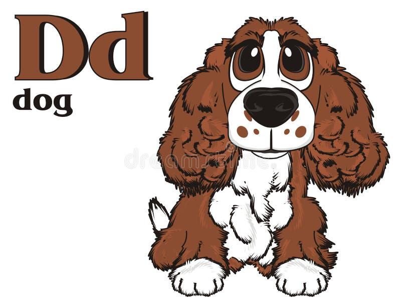 Hond en abc vector illustratie