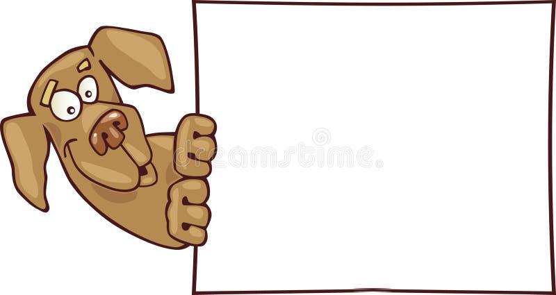 Hond en kaart royalty-vrije illustratie