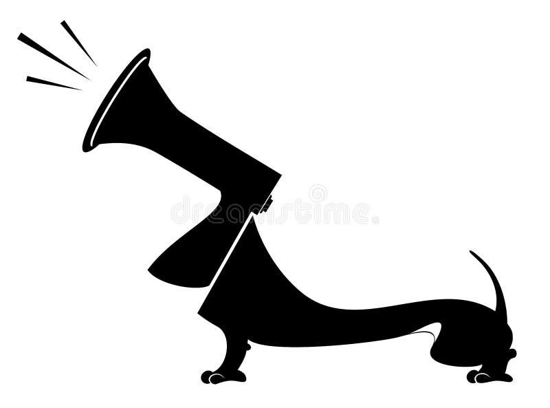 Hond en megafoonconceptenillustratie royalty-vrije illustratie