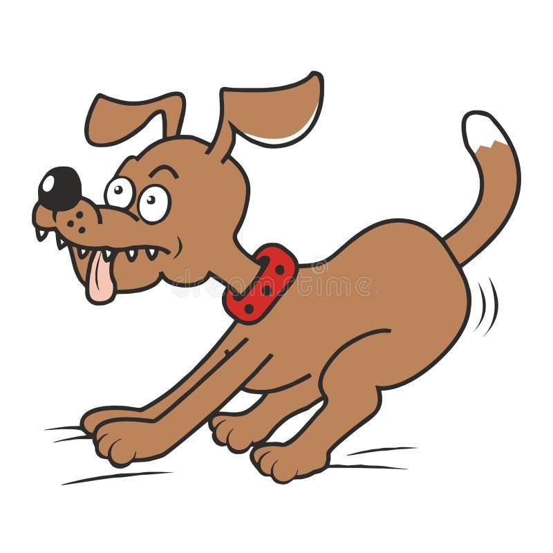 Hond en tong vector illustratie