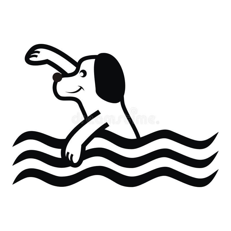 Hond en Water royalty-vrije illustratie